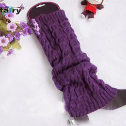 Wholesale Fairy Knitting - Wholesale- AG 16 Fairy Store 2016 Hot Selling Women Winter Knit Crochet Fashion Leg Warmers Legging 6 Colors