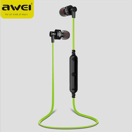 Wholesale Awei Earphone - AWEI A990BL Wireless Bluetooth Sport Earphone ear buds Headset Stereo earphones For iPhone 6 Sumsang S7 xiaomi HTC iPod