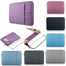Wholesale Air Bag Shipping - Fabric Laptop Notebook Sleeve Case Carry Bag Cover For 11 13 15 MacBook Air Pro , Free shipping