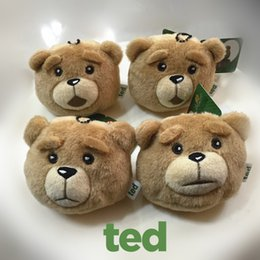 Wholesale Collectible Teddy Bears - 2017 TED bear 8cm 4pcs set Cartoon Movie Teddy Bear key ring movie merchandise TED Plush Toys Stuffed Animal Dolls Classic Toy Kids