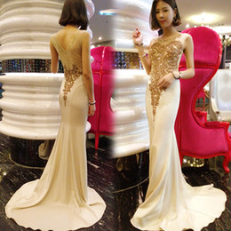 Wholesale Dinner Long Section Dress - Luxury and elegant banquet evening dress 2017 long section of the fish tail was thin sexy dinner banquet wedding dress