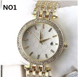 Wholesale Designer Watches For Ladies - Luxury Famous Designer Women Rhinestone watches fashion luxury Brand Dress Michael ladies watch for Free Shipping 0221