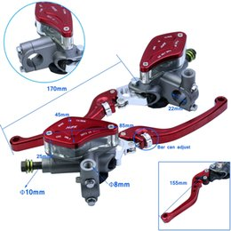 Wholesale Motorcycle Clutch Brake Levers - Motorcycle CNC Red Brake Pump hydraulic clutch Lever Bar Handle master cylinder universal Street Bike for Aprilia KTM Suzuki Kawasaki Honda