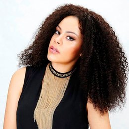 Wholesale Indian Curly Hair For Sell - Lace Front Wigs Afro Kinky Curly For Black Women Indian Hair High Quality Front Lace Wigs Selling Online