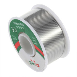 Wholesale Cored Solder - Wholesale- 63 37 Tin Lead Electrical Solder Wire Reel 100g 0.8mm Rosin Core Flux Roll Tin Solder Soldering For Welder Iron Wire Reel
