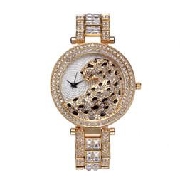 Wholesale Gold Tiger Jewelry - Casual Ladies Watches Quartz Waterproof Diamonds Tiger For Famous clock women Top Luxury Brand Women's Wrist Watch