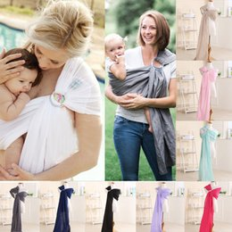 Wholesale Organic Cotton Baby Sling - 8 colors Newest Newborn Baby Holder Infant Handsfree Sling Stretchy Wrap Carrier Breastfeeding 100% organic cotton Solid soft Baby Wrap