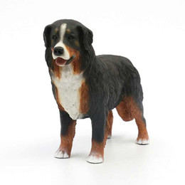 Wholesale Dancing Figurines - Extraordinarily life-like puppy High Quality Handicraft Bernese Mountain Dog Figurine - Large Standing Puppy 7.4 Inches
