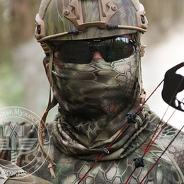 Wholesale Military Face Camouflage - Tactical Gear Balaclava Face Mask Quick-drying Hood Bike Cycling Headgear Caps Camouflage Hunting Hat Masks Men Women