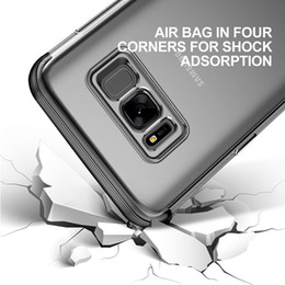 Wholesale Capa Galaxy - 2017 Armor Case For Samsung Galaxy S8 Capa Funda Soft TPU Protective Shell Cover For Galaxy S8 Plus Coque Full Protection Case
