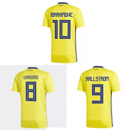 a5f5e9c10 sweden soccer jersey 2019 - Thai 2018 World Cup Sweden soccer jerseys  IBRAHIMOVIC football shirt KALLSTROM