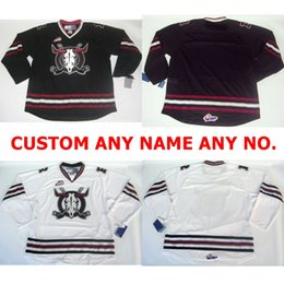 Wholesale Black Rebel - Mens Womens Kids WHL Deer Rebels 100% Embroidery Custom Any Name Any No. Hot Sale Ice Hockey Jerseys S-6XL Goalit Cut