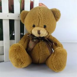 Wholesale Plush Coloured Teddy Bears - Wholesale- High quality super kawaii cute lovely bear factory outlet cartoon bear plush dolls bears Plush teddy bear doll 8 colours