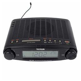Wholesale ats radio - Wholesale-Original TECSUN MP-300 FM Radio Stereo DSP Radio USB MP3 Player Desktop Clock ATS Alarm Portable Radio Receiver LED DIsplay
