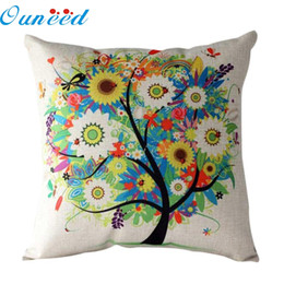 Wholesale Hospital House - Wholesale- Pillow Case My House 2016 Design sense tree design Bed Festival Pillow cover Free shipping Feb25