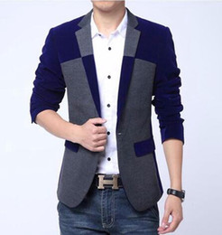Wholesale Cashmere Suit Coat - Men in Europe and the leisure business English new fashion boutique personality single-breasted small suit cashmere coat   M-5XL