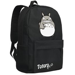 Wholesale Totoro School Backpack - backpack2016women canvas japanese school bag Totoro backpack cute anime sac a dos leisure travel feminine bagpack youth