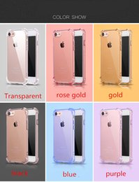 Wholesale Crystal Phone Case Accessories - For iPhone 7 Plus Case Luxury Shockproof Armor Cases For iPhone 7 7 Plus Gasbag Crystal Clear Phone Accessories Cover