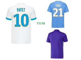 Wholesale Thailand Soccer Jerseys Free Shipping - AAA Thailand Olympique de Marseille 17 18 home away third purple soccer jersey #10 PAYET L.GUSTAVO #21 EVRA football shirts free shipping
