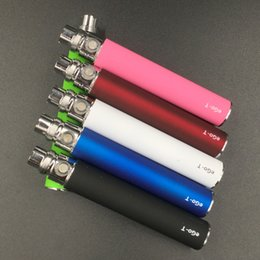 Wholesale Mini Ego T Ce4 - In Stock!! eGo-T Battery for E Cigarettes for 510 Thread mt3 CE4 CE5 CE6 iclear30s mini protank 650 900 1100 1300mAh Various Color