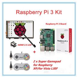 "Wholesale Touch Screen Hdmi Usb - Freeshipping 3.5"" LCD HDMI Touch Screen+Original Raspberry Pi 3 Model B +2 Raspberry PI USB Gamepads for XP for Vista L3EF"