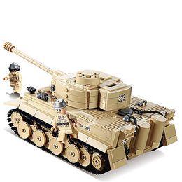 Wholesale Century Military - 995pcs Century Military German King Tiger Tank Cannon Building Blocks Bricks Model Sets Kazi ky82011 Toys Compatible with LEPIN