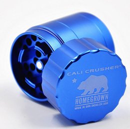 Wholesale Aluminium Gift Boxes - Cali Crusher Grinders 4 Piece 42mm Tobacco Grinders High Grade Aluminium Alloy Herb Spice Crusher 4 Colors Gift Box Grinder