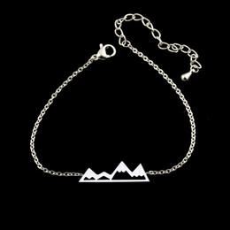 Wholesale Outdoor Christmas Sets - Wholesale 10Pcs lot 2017 Hot Sale Snap Jewelry Fashion Women Silver Charm Bracelets Outdoor Snowy Mountain Gold Bracelets For Men