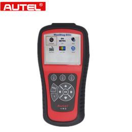 Wholesale Scanner Maxidiag - 100% original Autel Code Reader Autel MaxiDiag Elite MD802 for 4 System DS Model Autel MD802 OBD2 Code Scanner