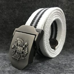 Cintura russa online-Cintura militare unisex nazionale russo emblema cintura tattica cintura per uomo donna lusso Patriot Jeans cintura 120 centimetri