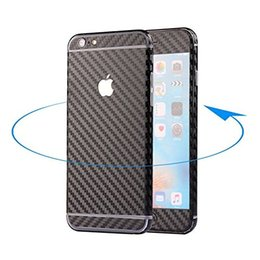 Wholesale Carbon Fiber Iphone Skin - For IPhone 7 6 6s Plus Full Body Textured carbon fiber Skin Sticker Wrap Sticker Decal film with Decal Wrap protective with retail package
