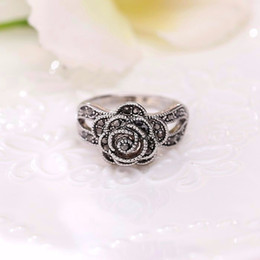 Wholesale Unique Weddings Rings - 2017 Top Fashion Plated Geometric Hot Retro 925 Sterling Rings For Woman Unique Thailand Compatible With Pandora Charm Jewelry