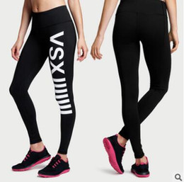 Wholesale Clubwear Plus - Plus Size Ladies VSX Skinny Womens Yoga Fitness Leggings Running Gym Stretch Sports Pants Trousers Clubwear Pants Leggings S-XXXL 565