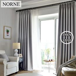Wholesale White Window Panels - NORNE Solid Blackout Curtain 85% Shading Rate Thermal Insulated Grommet Noise Blocking Window Curtains for Bedroom Living Room,One Panel