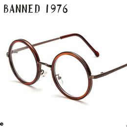 Wholesale Cool Reading Glasses - Wholesale- 2017 Anti UV light Round metal Men Women Optical eyeglasses Frame Reading goggles cool eye Glasses Computer Eyewear oculos