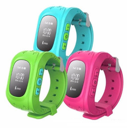 Wholesale watch mobile phone free shipping - Q50 smart phone watch kid wristwatch anti lost GPS tracker for kids car SOS GPS mobile phone smart watch for IOS Android hot free shipping