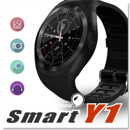 Wholesale Retail Cameras - U1 Y1 smart watchs for android smartwatch Samsung cell Phone watch bluetooth for apple iphone with U8 DZ09 GT08 with retail package