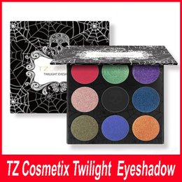 Wholesale New TZ Cosmetix Twilight Colors Eyeshadow Palette Matte Shimmer Diamond Foiled Colors Brand eye shades