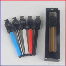 Wholesale Slim Tank Mini - Vape Pen Ecig Vaporizer 510 Thread Bud Touch Battery Mini Slim O pen Buttonless Auto Battery For Ce3 Tank Cartridge Atomizer Vape Cartridge