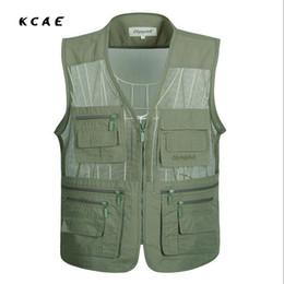 Wholesale Vest Pocket Camera - New Fly Vest Quality Clothes   Jackets Camera Waistcoat Mulit-pocket Clothes for Sea vest