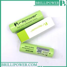 Wholesale Electronic Cigarette Li - 100% original 40a 3100mAh Brillipower 18650 battery for Ecig Electronic cigarette box mod Brillipower 3.7V 3100mAh 40a li-ion battery