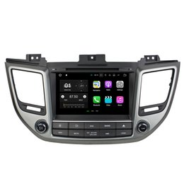 "Wholesale Mobile Mp3 Recorder - 8"" Android 7.1 System Car DVD Recorder For Hyundai Tucson IX35 2014+ GPS Navi Radio RDS BT WIFI 4G OBD DVR SWC BT 4.0 2G+16G RAM Quad Core"