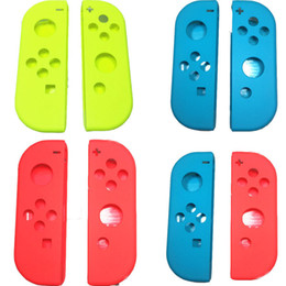 Wholesale Shell Housing Nintendo - Free Shipping Replacement Right Left Housing Shell Case Cover for Nintendo Switch Joy-Con Controller
