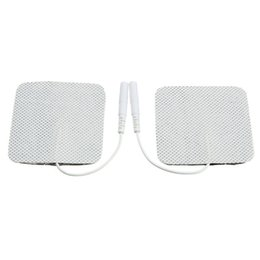 Wholesale Ems Slimming Machines - 20pcs lot Electrode Pads for Tens EMS Unit with 2mm Connector for Slimming Massage Digital Therapy Machine Massager 5x5cm