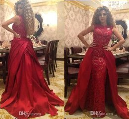 Wholesale Vintage Singer - 2017 Celebrity Lebanon Singer Prom Dress Party Queen Red 2k16 Floor Length Lace Prom Dresses Evening Gowns