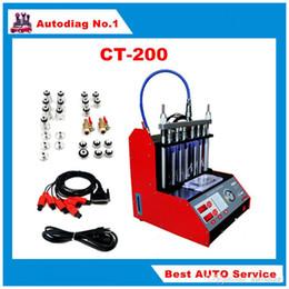 Inglês limpo on-line-CT200 Injector de Combustível Limpo e Testador 220 V / 110 V Com painel Inglês melhor do que CT100 CNC-602A CT200 Injector de Combustível Limpo DHL LIVRE