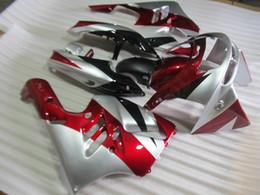 Wholesale 1995 Kawasaki Ninja Zx9r Fairings - New ABS motor bike Fairing Kits Fitment For KAWASAKI Ninja ZX9R 1994 1995 1996 1997 ZX-9R 9R 94 95 96 97 Bodywork set nice silver black red