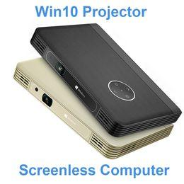 Wholesale manual window - Wholesale-Mini Pico Portable HD Projector Windows 10 System 1080P Video Projector Wireless Bluetooth Wifi USB HDMI 12000mAh Battery