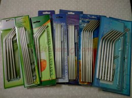 Wholesale Stainless Steel Drink Bars - 20oz 30oz Yeti Drinking Straws and Brushes Yeti Mugs Coolers Yeti Tumbler Stainless Steel Bar Hotel Bent Curved Straight Drinking Straws