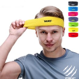 Wholesale Cotton Yoga Sweatband - Wholesale Cotton Sweat Headband For Men Sweatband Women Yoga Hair Bands Head Sweat Bands Basketball Safety Free Shipping